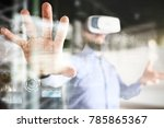 internet  business and... | Shutterstock . vector #785865367