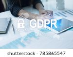 gdpr. data protection... | Shutterstock . vector #785865547