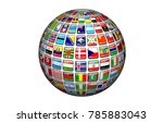 world community 3d rendering | Shutterstock . vector #785883043