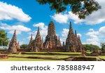 ayutthaya historical park  old... | Shutterstock . vector #785888947