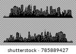 the silhouette of the city in a ... | Shutterstock .eps vector #785889427