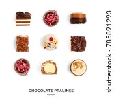 seamless pattern with chocolate ... | Shutterstock . vector #785891293