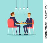 business meeting in the... | Shutterstock .eps vector #785894497