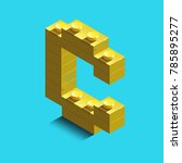 realistic  gold 3d isometric... | Shutterstock .eps vector #785895277