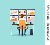 analytics  analysis  risks ... | Shutterstock .eps vector #785897107
