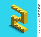 realistic  gold 3d isometric... | Shutterstock .eps vector #785903083