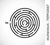 abstract maze labyrinth icon....