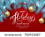 holidays greeting card for... | Shutterstock .eps vector #785923087