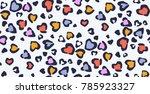 leopard pattern vector print  | Shutterstock .eps vector #785923327
