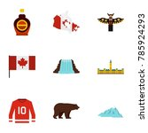 canada travel icon set. flat... | Shutterstock . vector #785924293