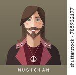 icon of musician | Shutterstock . vector #785932177