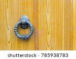 old doorknob on wooden door   Shutterstock . vector #785938783