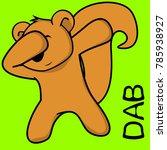 dab dabbing pose squirrel kid