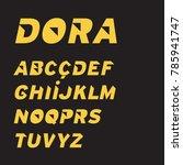 modern italic sans font with... | Shutterstock .eps vector #785941747