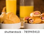 mixed brazilian snack on the... | Shutterstock . vector #785945413