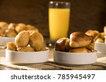 mixed brazilian snack on the... | Shutterstock . vector #785945497