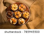 mixed brazilian snack on the... | Shutterstock . vector #785945503