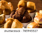 mixed brazilian snack on the... | Shutterstock . vector #785945527