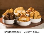 mixed brazilian snack on the... | Shutterstock . vector #785945563