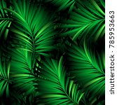 tropical palm leaves  jungle... | Shutterstock .eps vector #785953663