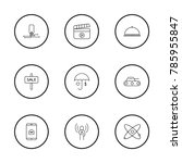 industrial icons set with... | Shutterstock .eps vector #785955847