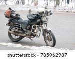 Old Vintage Dirty Motorcycle...