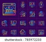 linear icon set of online... | Shutterstock .eps vector #785972233