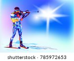 the polygonal colourful figure... | Shutterstock .eps vector #785972653