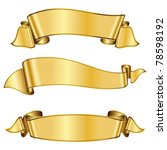 gold ribbon collection | Shutterstock .eps vector #78598192