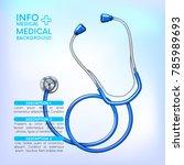 medical infographic background... | Shutterstock .eps vector #785989693