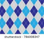 blue argyle background | Shutterstock .eps vector #786008347