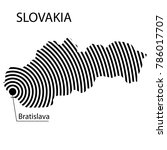 map of slovakia. abstract black ... | Shutterstock .eps vector #786017707