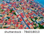 aerial view of lefkada town ... | Shutterstock . vector #786018013