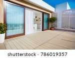roof top patio with open space... | Shutterstock . vector #786019357