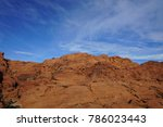 red rock canyon   erosion on... | Shutterstock . vector #786023443