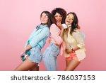 confident asian girl in denim... | Shutterstock . vector #786037153
