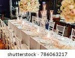 setup wedding table | Shutterstock . vector #786063217