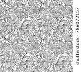 vector seamless monochrome... | Shutterstock .eps vector #786072157