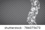 winter frame with white... | Shutterstock .eps vector #786075673