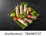 a typical vietnamese cuisine...   Shutterstock . vector #786080737