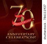 70th years anniversary... | Shutterstock .eps vector #786111937