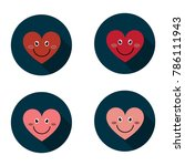 smile heart icon. love symbol.... | Shutterstock .eps vector #786111943