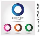 modern circle logo. symbol  ... | Shutterstock .eps vector #786115087