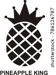 pineapple king logo design... | Shutterstock .eps vector #786126787
