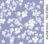 delicate daisy floral texture.... | Shutterstock .eps vector #786131863