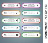 business infographics origami... | Shutterstock .eps vector #786134443