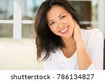 middle age asian woman. | Shutterstock . vector #786134827