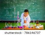 male students in poor  rural... | Shutterstock . vector #786146737