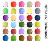 colorful circle with shadows...   Shutterstock .eps vector #786148303