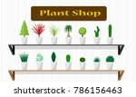 interiors plant shop with green ... | Shutterstock .eps vector #786156463